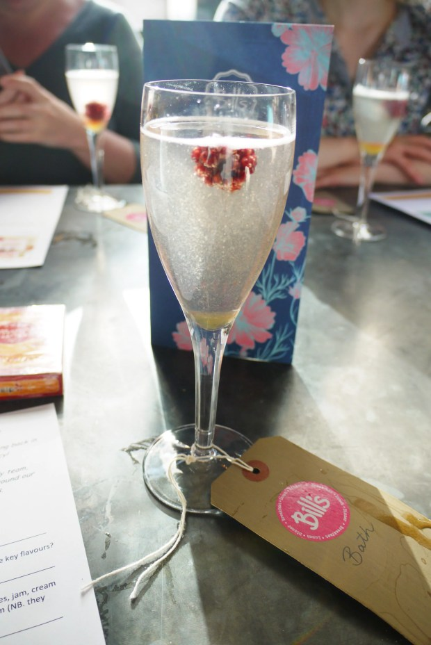 Hedgerow Fizz: Prosecco, elderflower, frozen blackberry - £4.95