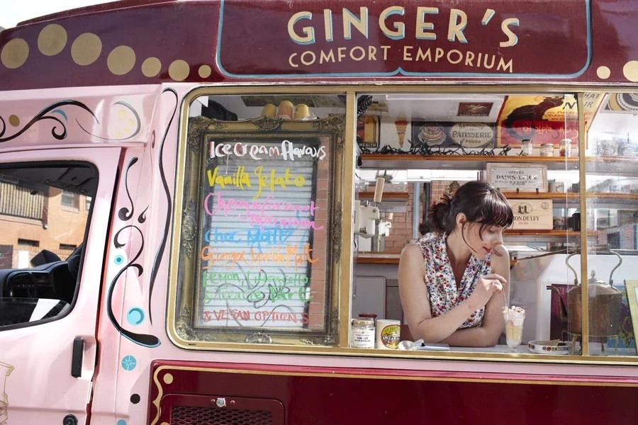 Ginger's Comfort Emporium van