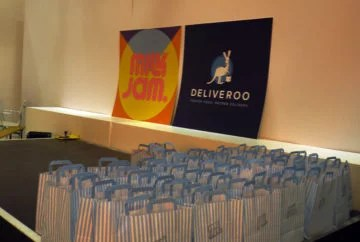 Milk Jam and Deliveroo logos