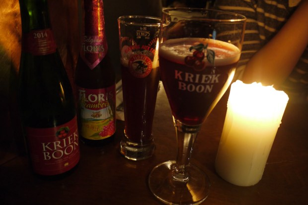 Boon Kriek Lambic Cherry and Floris Framboise (raspberry)