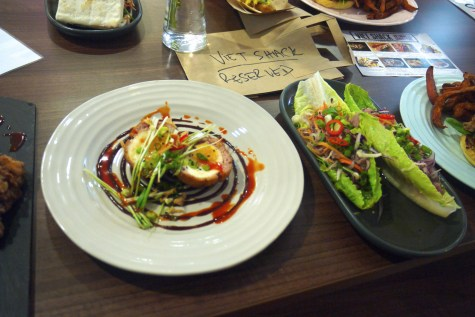 Fusion scotch egg and lettuce wrap