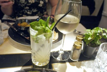 Lychee and mint (£4.50) and Pinot Grigio (£5.50)