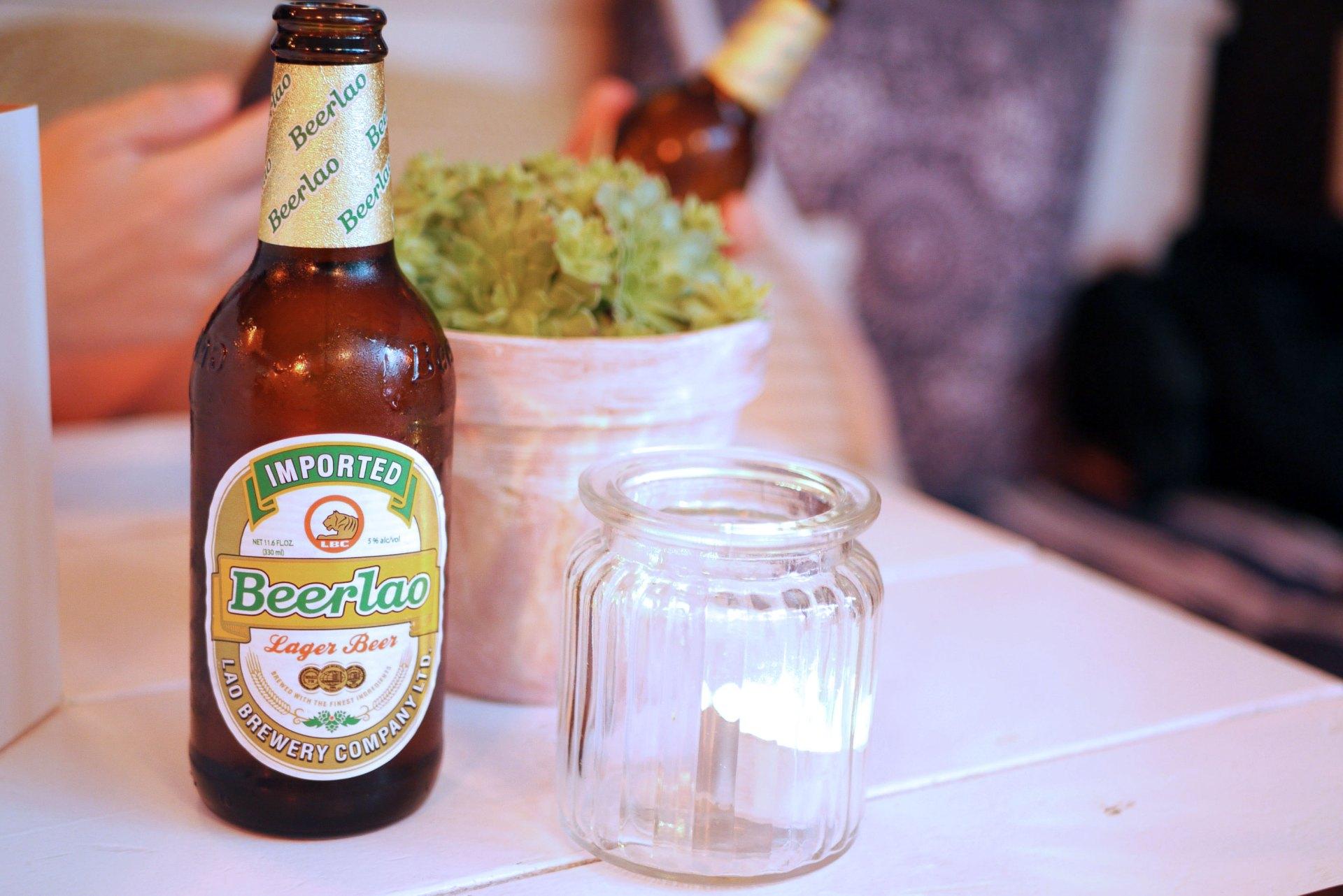 Beer Lao, rice beer £4.50