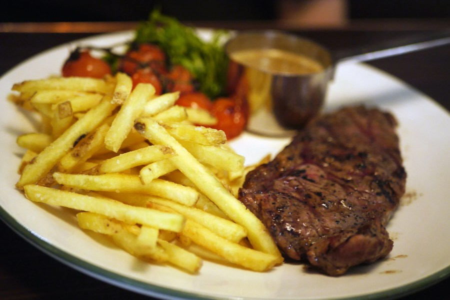 8oz Sirloin Steak, £18