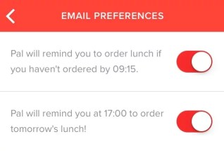 Meal Pal notifications