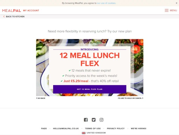 Meal Pal pricing