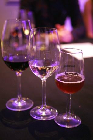 Shiraz The Paddock, Rioja Blanco Dinastia and BrewDog 6AM Red Ale