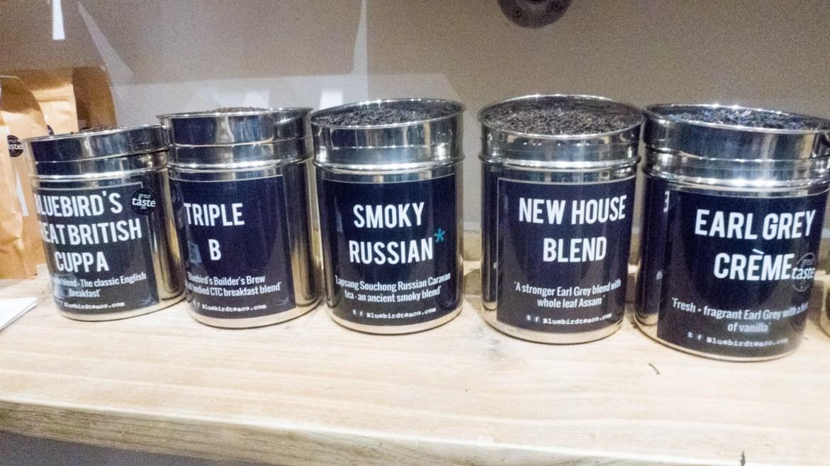 Wide range of teas
