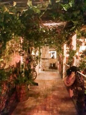 Walkway leading towards the kitchen area