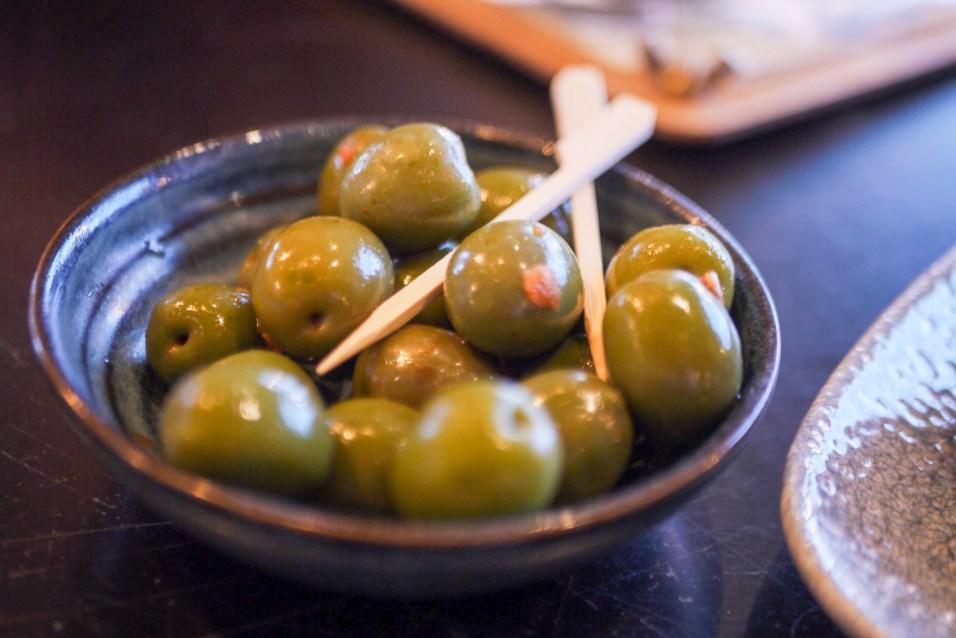 Nocellara olives at the Botanist (£3.25) (ve) (gf)