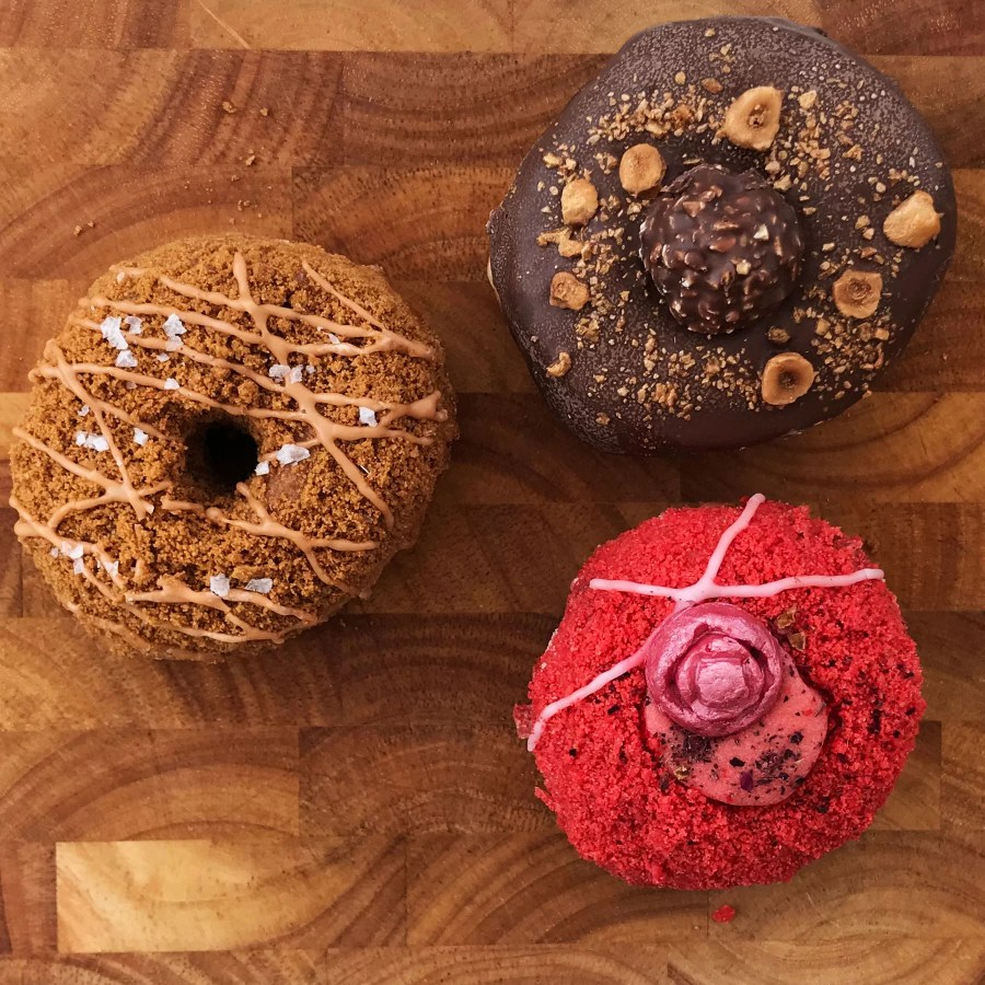 A selection of Yes! Doughnuts