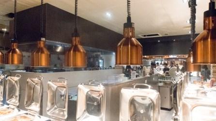 Cosmo buffet area