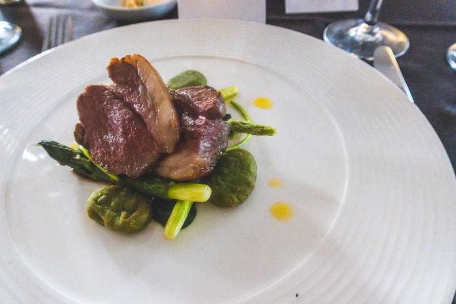 Lamb, asparagus, wild garlic