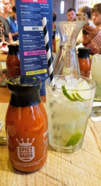 Mojito and a jar of their Spicy Malagueta Sauce