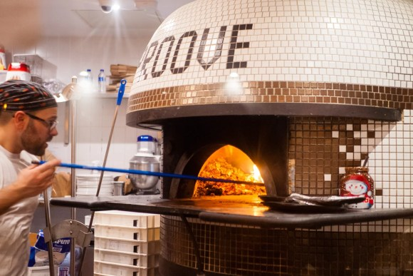 Pizza oven at Proove