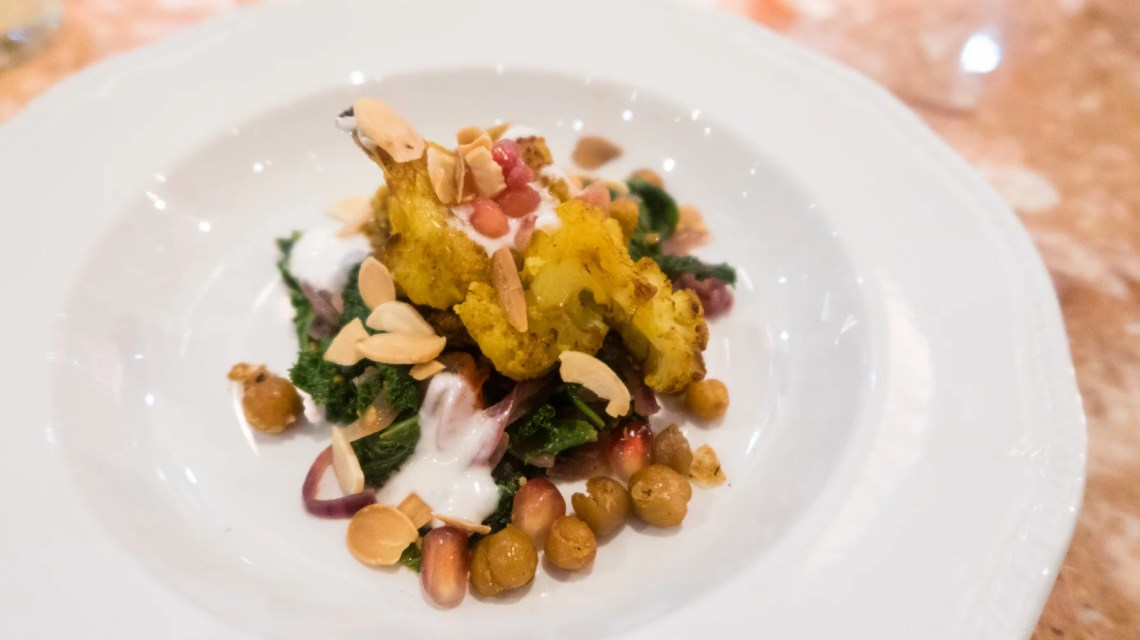 Turmeric roasted cauliflower salad (ve) £9.50