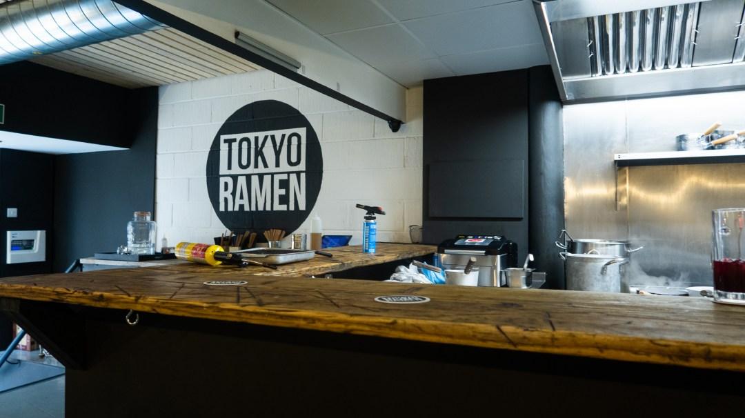 Tokyo Ramen open kitchen