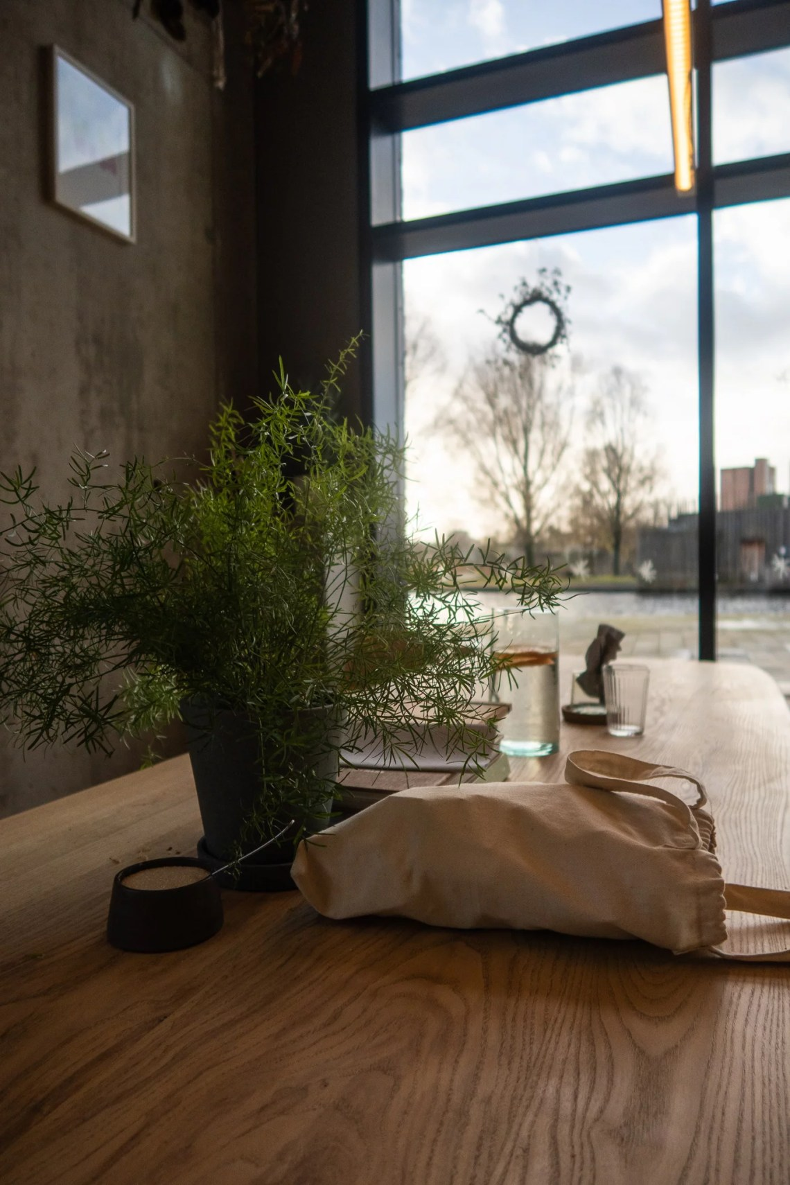Pollen Bakery table
