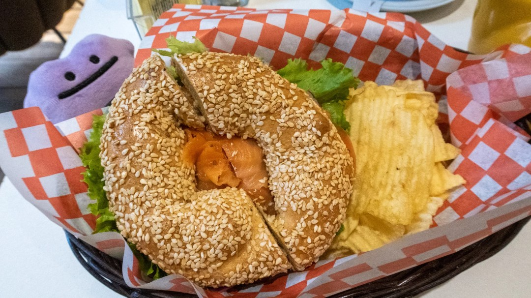 St Viateur bagel from Hinnawi Bros bagels