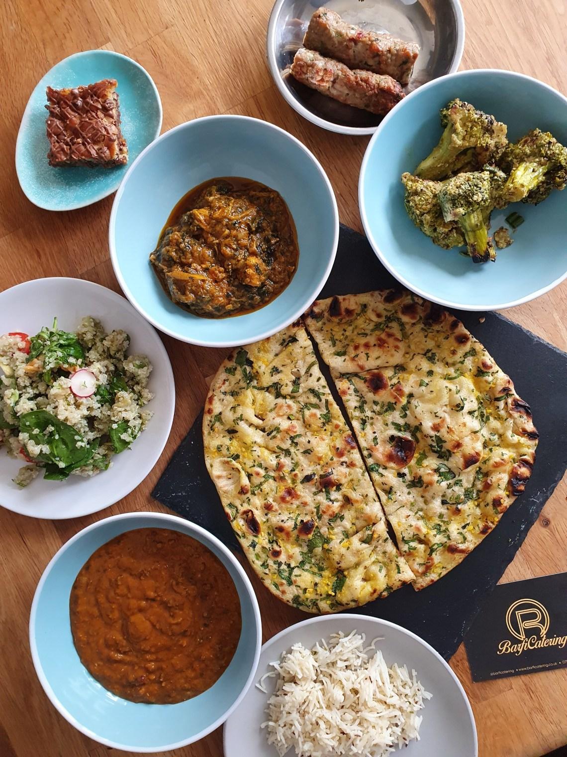 Barfi catering food box spread - Indian food