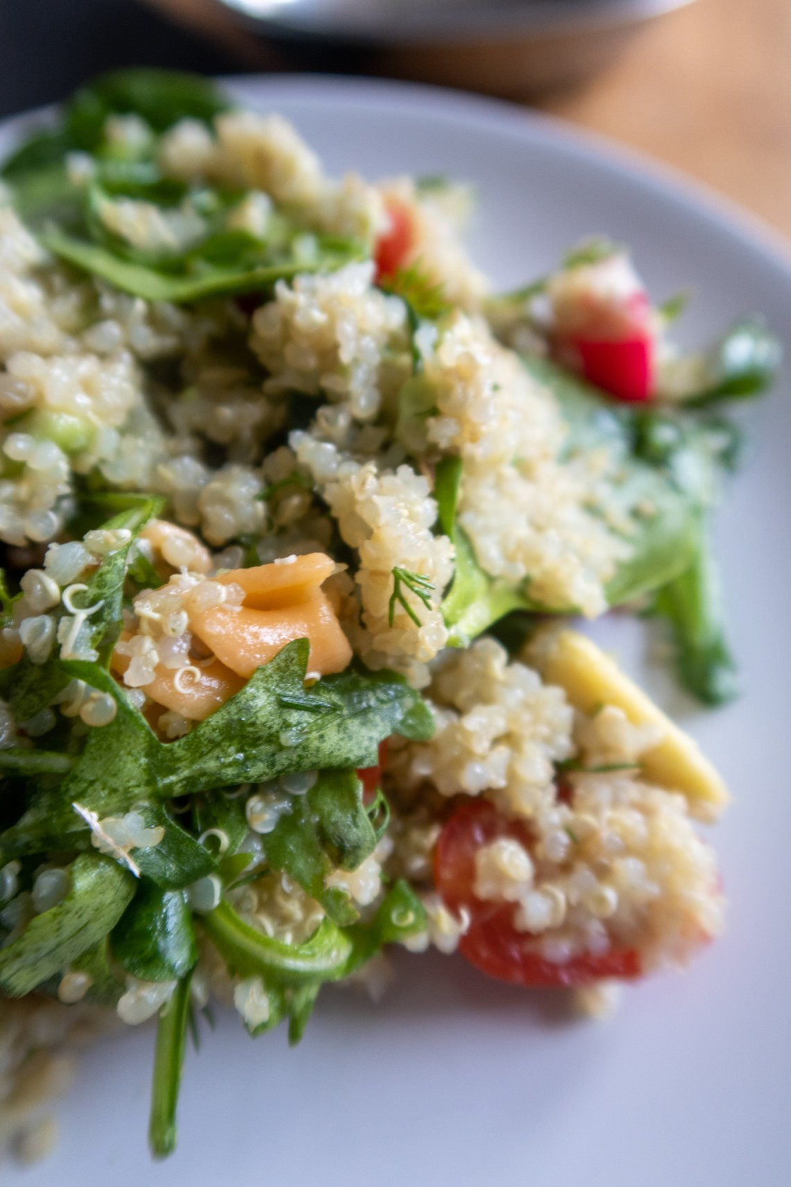 Quinoa and pasta salad from Barfi Catering