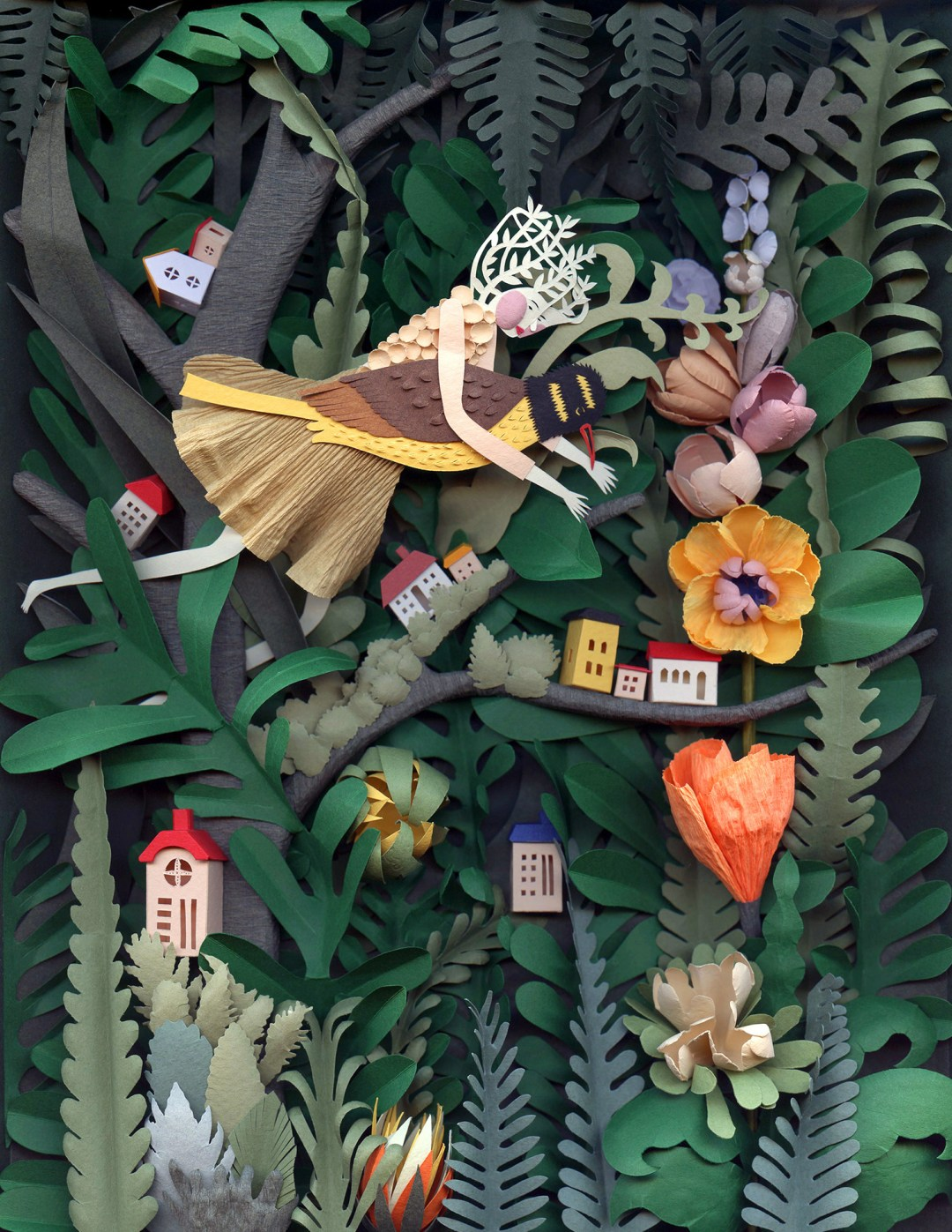 Paper sculpture commissioned by Cosmopolitan China.