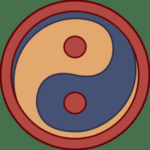 Escudo de la unidad de infantería romana occidental llamada armigeri defensores seniores (ca. 430 d. C.), el primer clásico yin yang emblema conocido