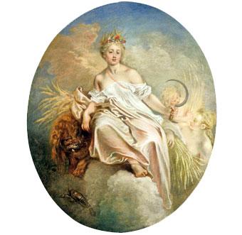 La diosa Ceres , la Dama de la Hoz