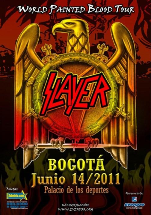 SLAYER en Colombia 2011, Jun 14 en el Palacio de los Deportes de Bogota