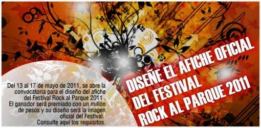 Concurso Afiche rock al parque 2011