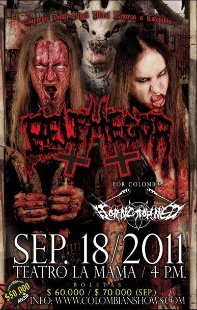 "BELPHEGOR ""BLOOD MAGICK NECROMANCE"" WORLD TOUR PT.IV SOUTH AMERICA - SEPT 2011."