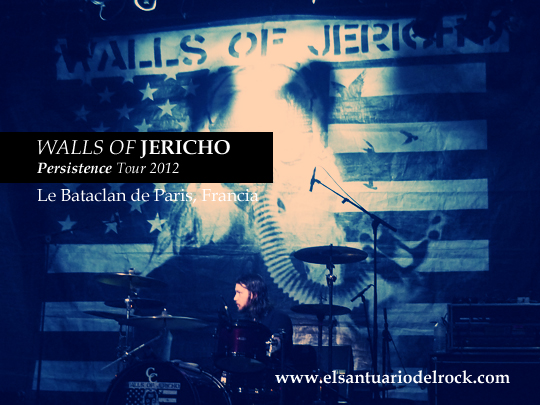 walls of jericho Persistence Tour 2012