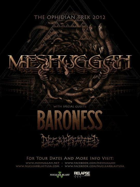 meshuggah tour with baroness