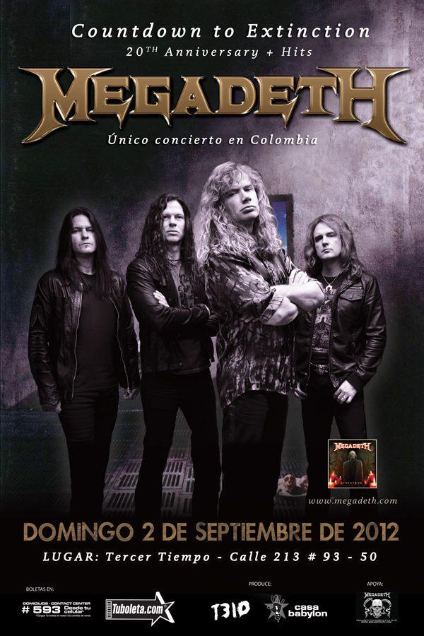 Megadeth en Colombia 2012, Sep 2 en Tercer Tiempo de Bogota