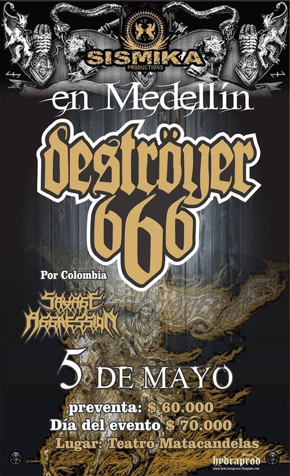 destroyer 666 medellin