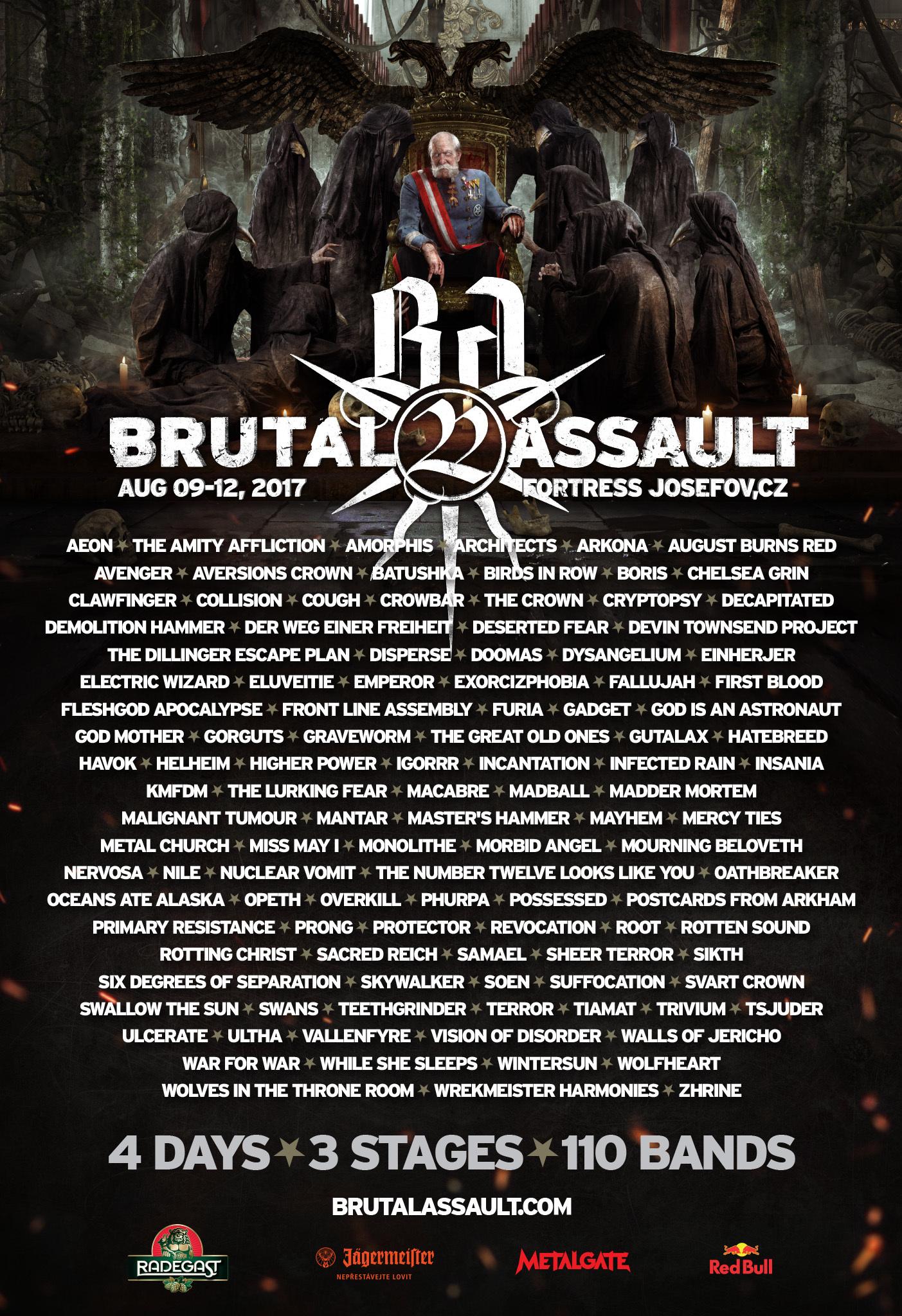 Brutal Assault Festival 2017 Cartel De Bandas