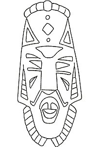 4x4 & 5x7 African Masks Outlines