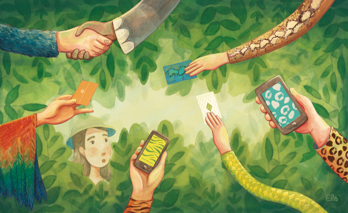 Illustration_Cultuurloket_elsdecaluwe_networking