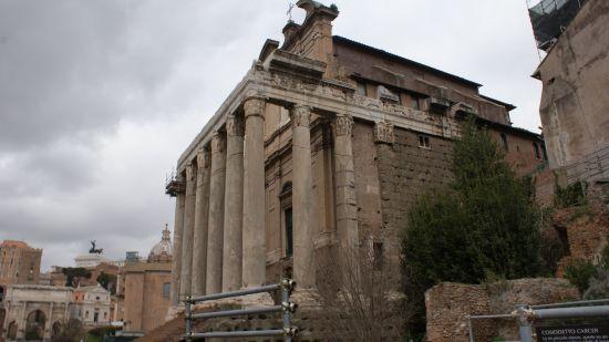 Restos de edificio de la Antigua Roma