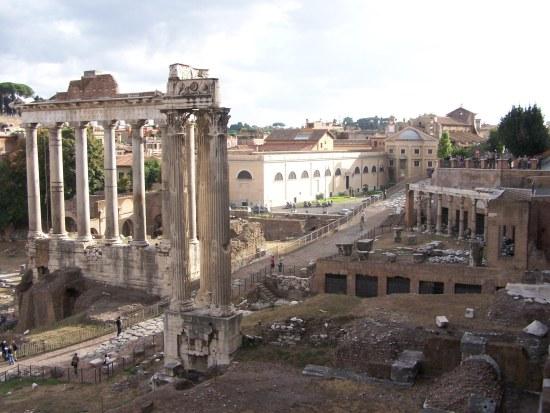 Vista del antiguo foro (Roma)