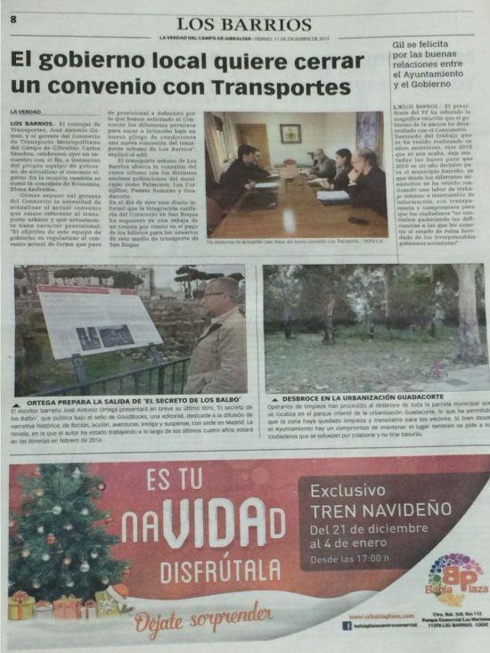 Página del diario La Verdad del Campo de Gibraltar
