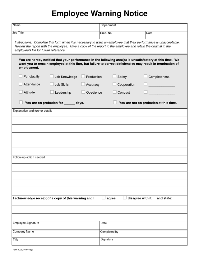 Clever image with printable employee write up form