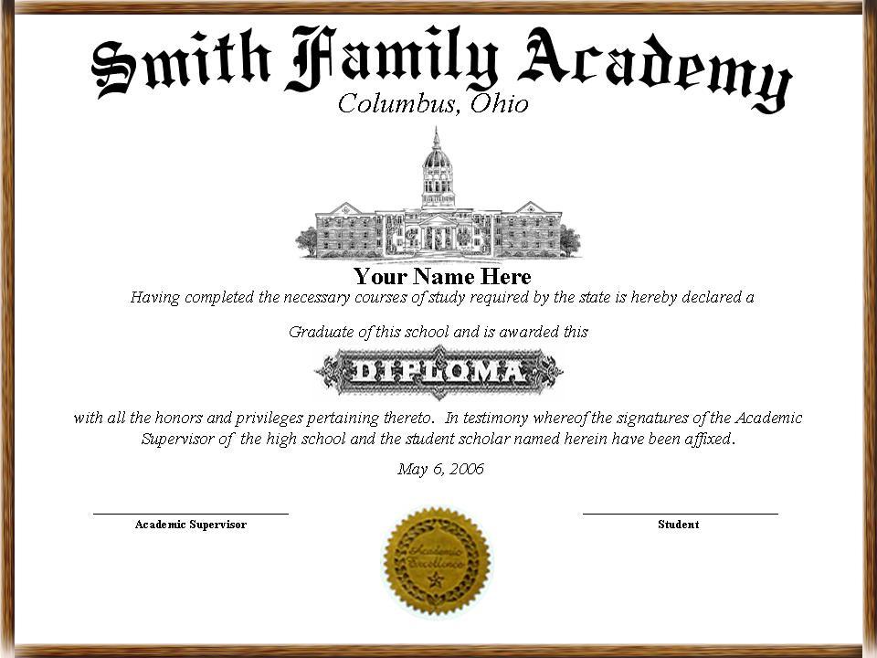 make a diploma template
