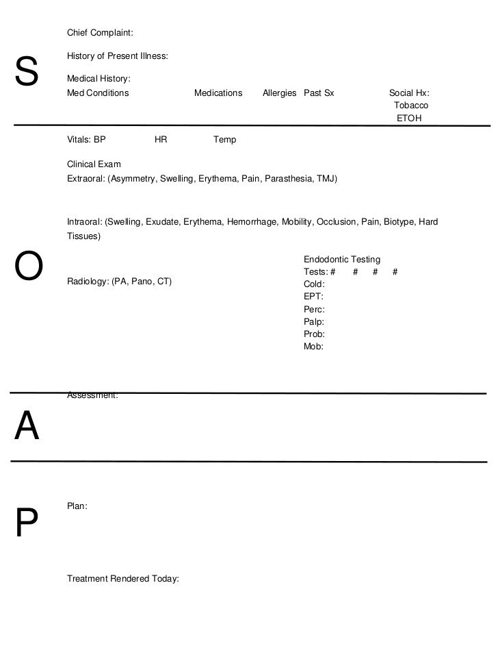 10 soap note template free download word excel pdf for Free soap note template