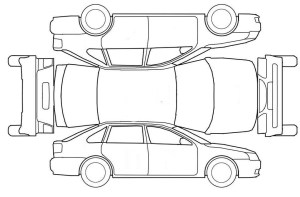 Vehicle Damage Diagram Template Sketch Coloring Page