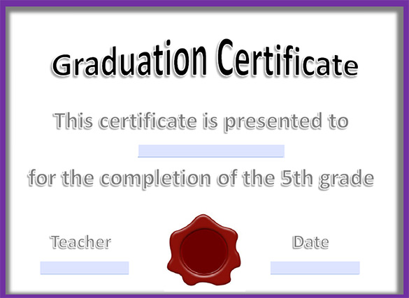 valedictorian award certificate template - graduation certificate templates free download