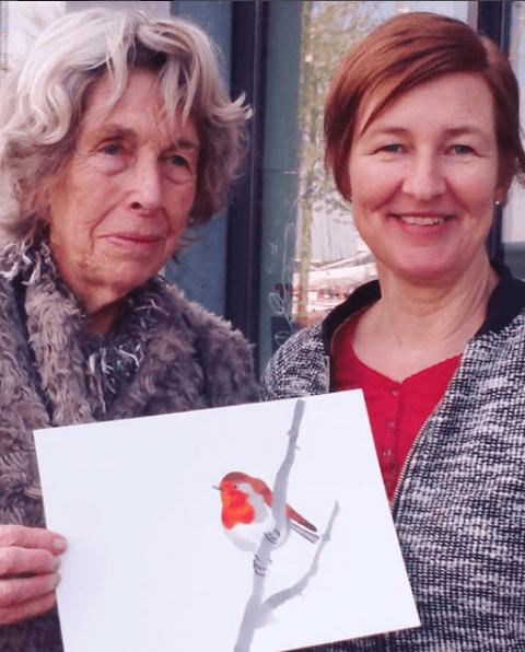 vogelschilderij roodborst