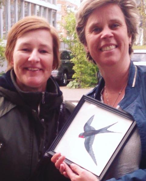 vogelschilderij zwaluw