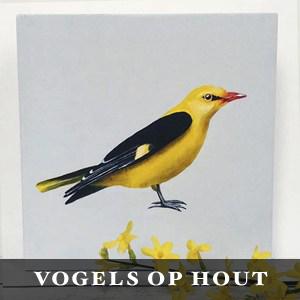 vogels op hout