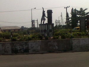 City Centre~The famous Sato Drum. Badagry in pix